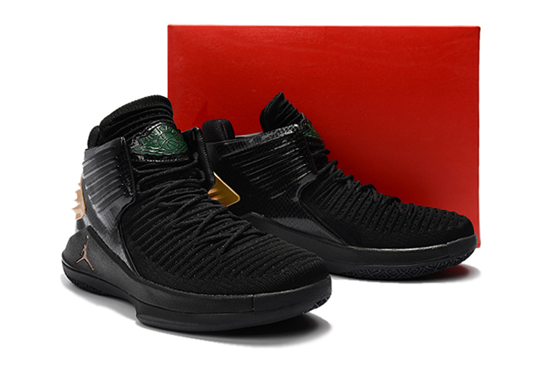 New Air Jordan 32 Black Gold Shoes