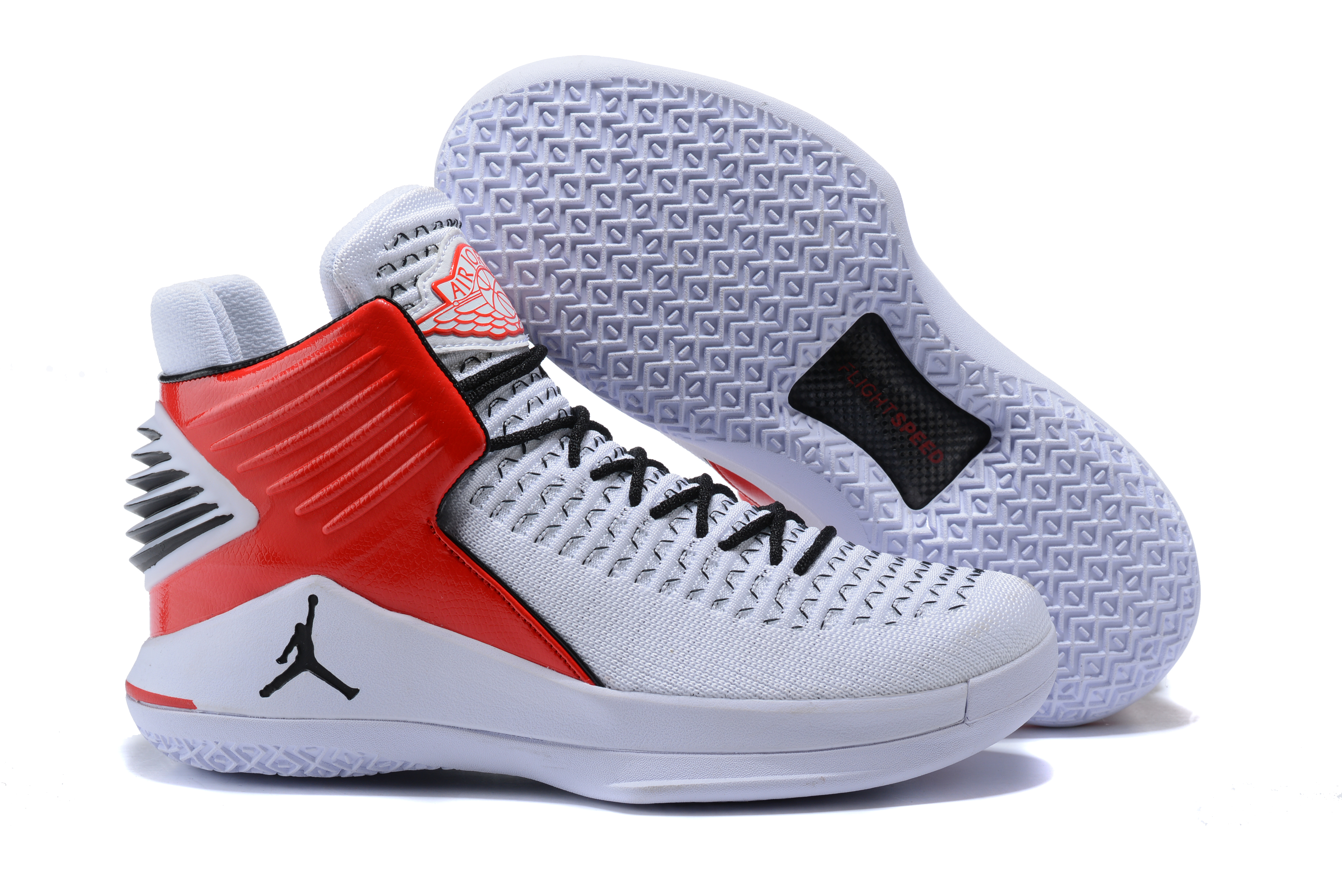 New Air Jordan 32 High White Red Black
