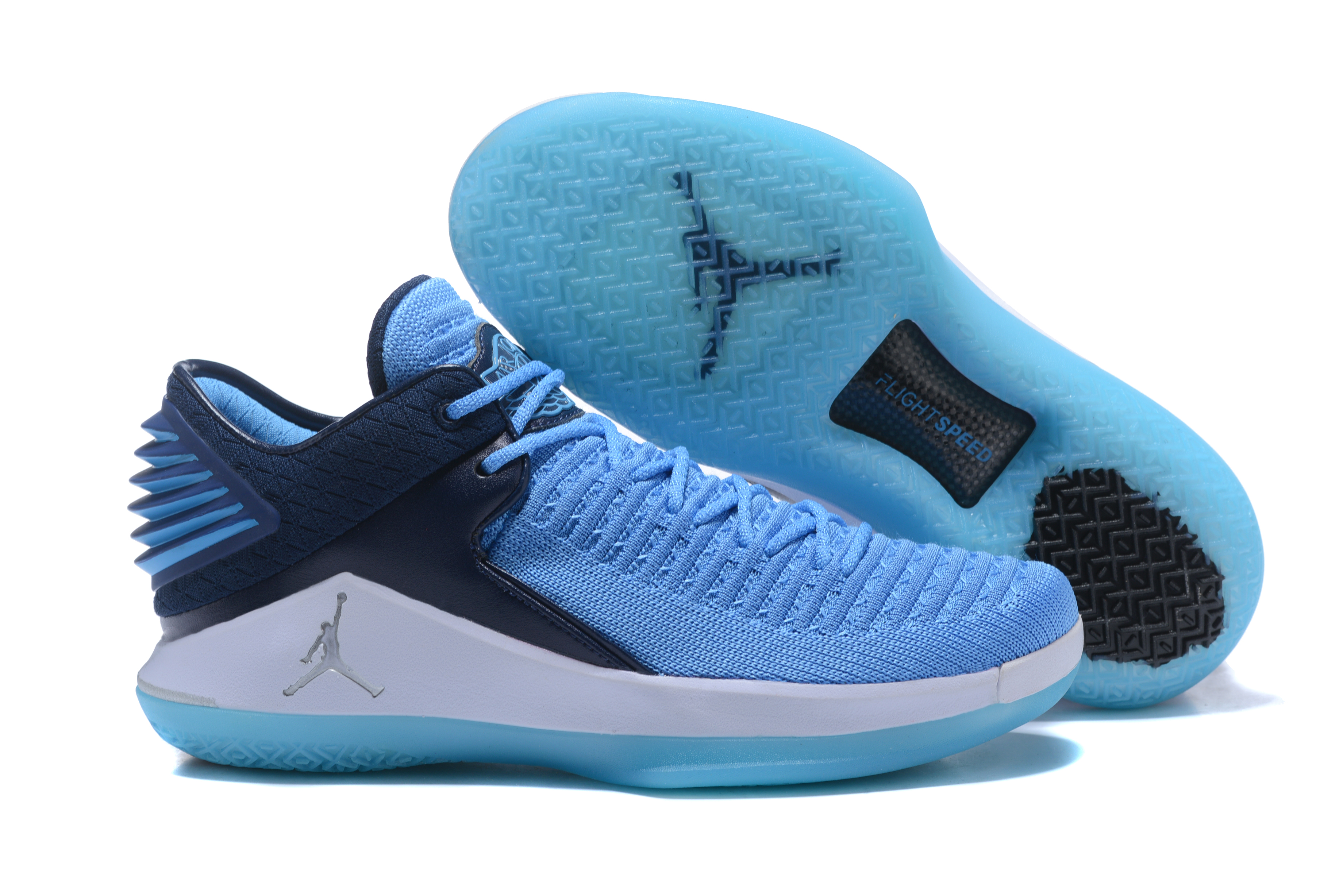 New Air Jordan 32 Low Blue Black White