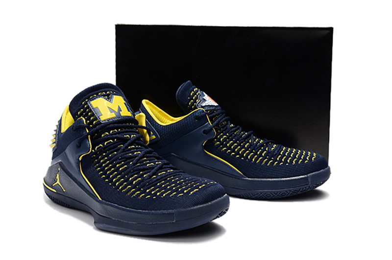 New Air Jordan 32 Low Blue Yellow Shoes