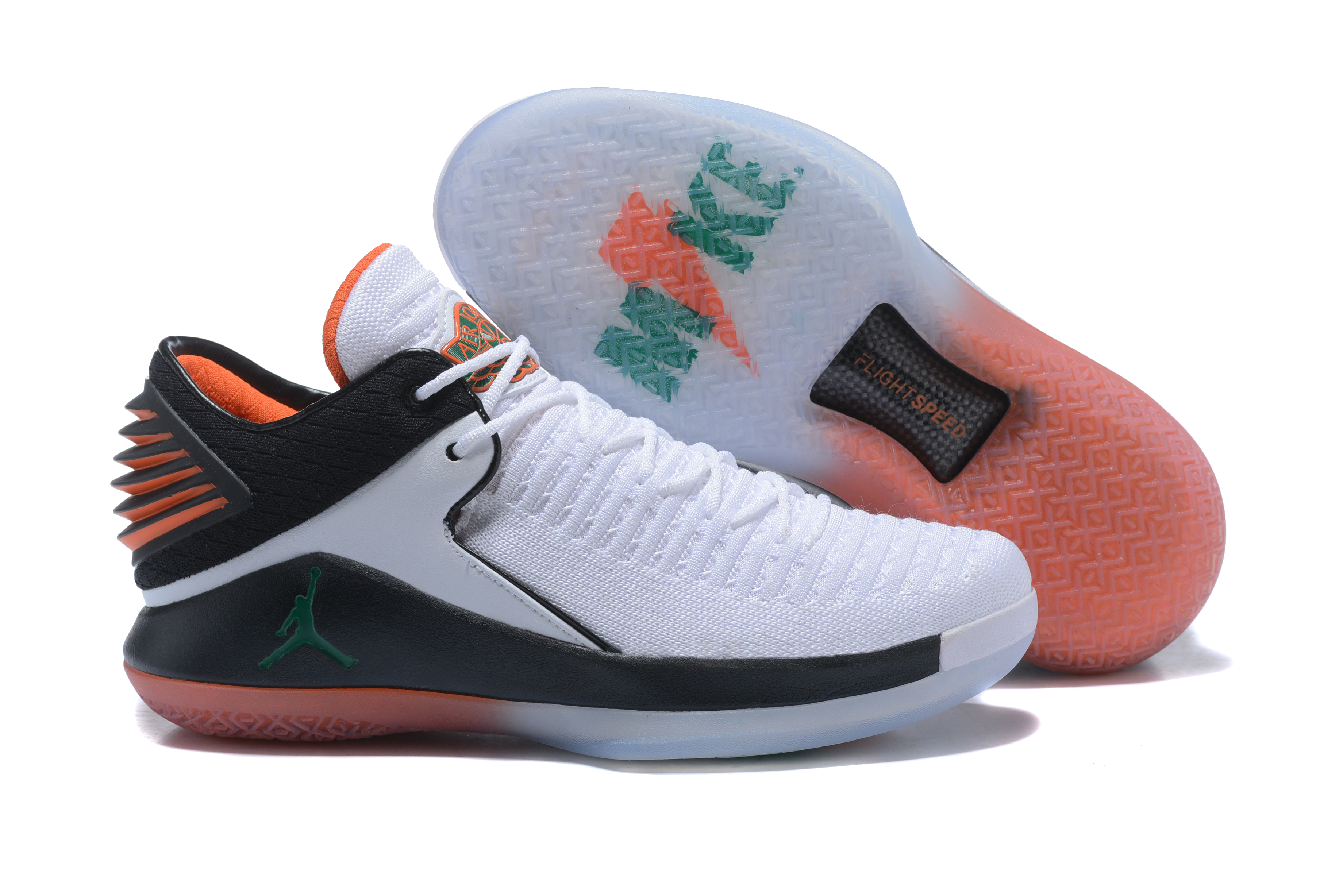 New Air Jordan 32 Low Gatorade White Black Orange