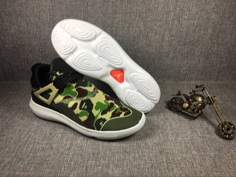 New Air Jordan 4 Camouflage Green Running Shoes