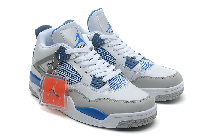 New Air Jordan 4 White Grey Baby Blue