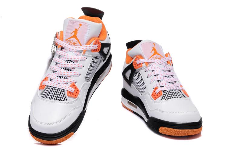 brand new 7e8a5 402cc ... 2013 Air Jordan 4 White Black Orange Shoes  Air Jordan 4 Retro ...