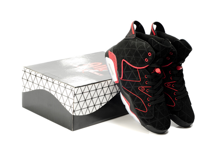 Latest Air Jordan 6 Black White Red
