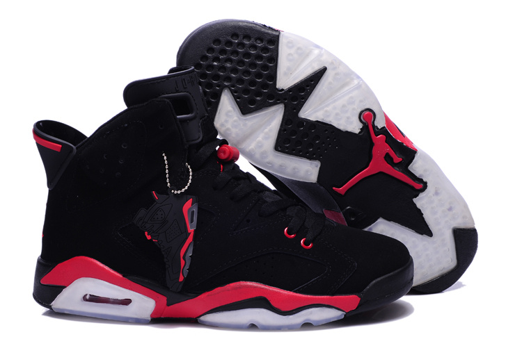 New Air Jordan 6 Retro Black Red Shoes