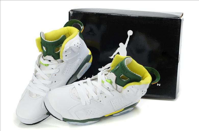 6ec351491826 Latest Air Jordan 6 White Yellow Green Cheap Latest Air Jordan 6 ...