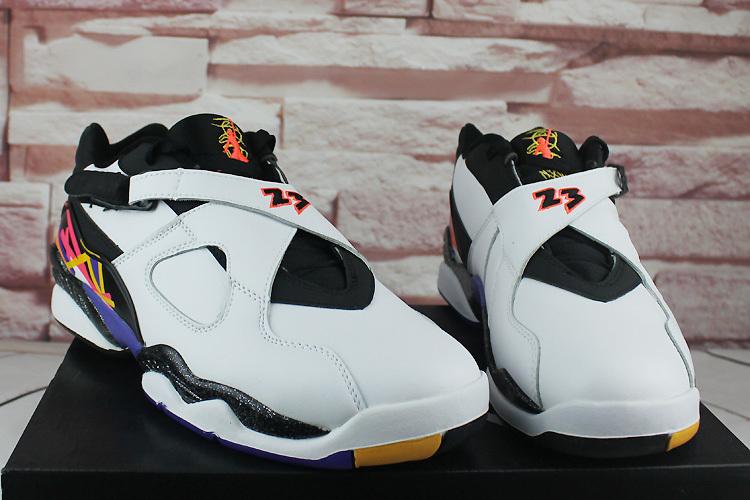 2490627ef14660 ... amazon new air jordan 8 low triple white black orange shoes 43d37 65b29