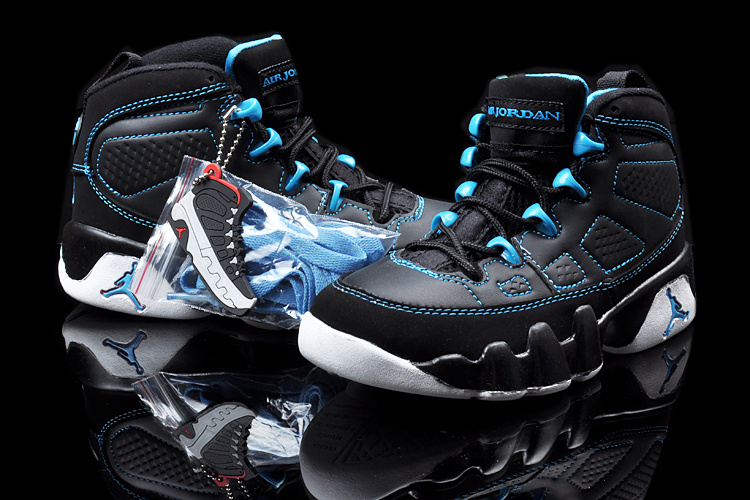 2013 Jordan 9 Black Blue White For Kids