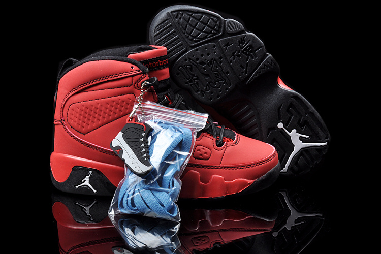 2013 Jordan 9 Red Black For Kids