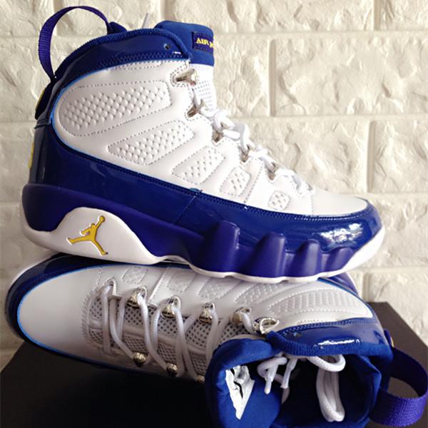 c828f6d9c1d956 ... usa new air jordan 9 retro white blue yellow jumpman shoes 4444b 1b6ec