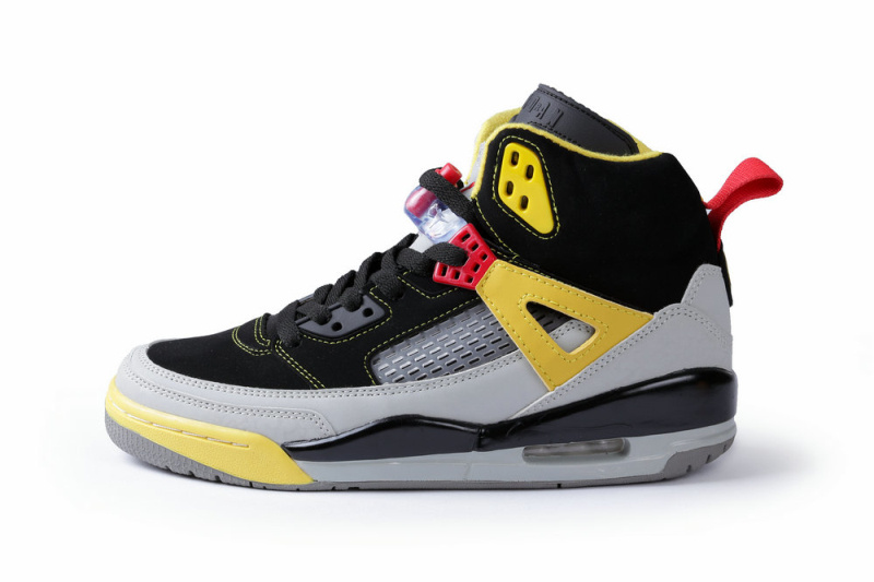 Cheap New Air Jordan Spizike Black Grey Yellow Shoes On Sale 8e90d0419