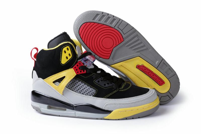 newest 3c836 7d33a New Air Jordan Spizike Black Grey Yellow Shoes