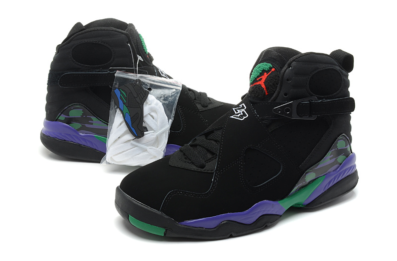 2013 Air jordan 8 Black Purple Shoes