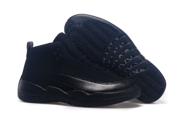 New All Black Jordan 12 Future Shoes