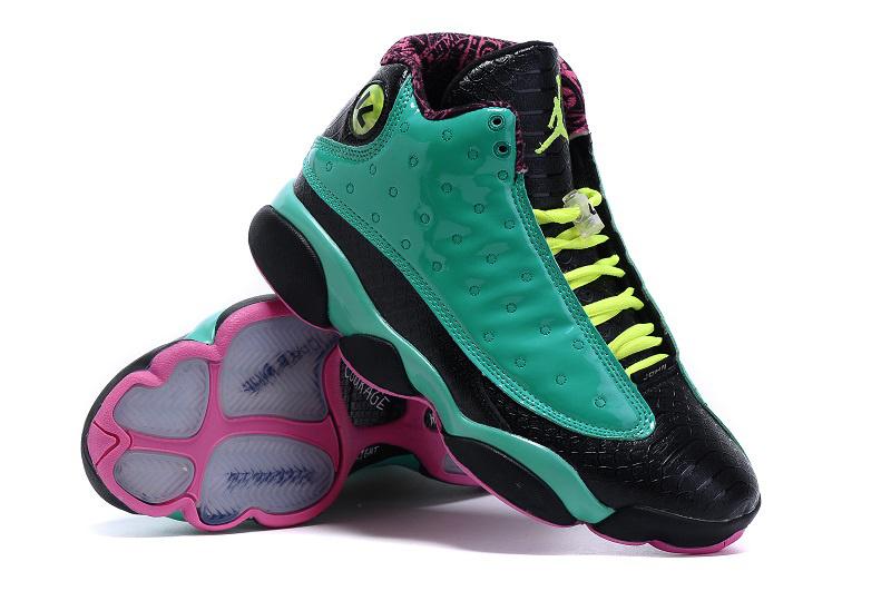 2199399c236 New Jordan 13 Doernbecher Green Black Pink Shoes  AJN007  -  77.00 ...