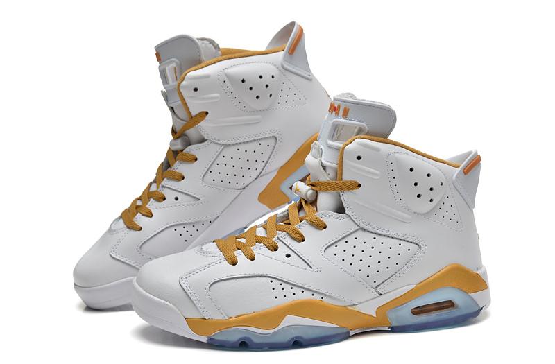 New Jordan 6 Retro White Yellow Shoes  NEWEST135  -  80.00 ... 7421922e4