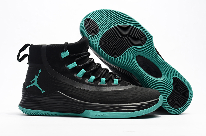 New Jordan Bulter II Black Green Shoes