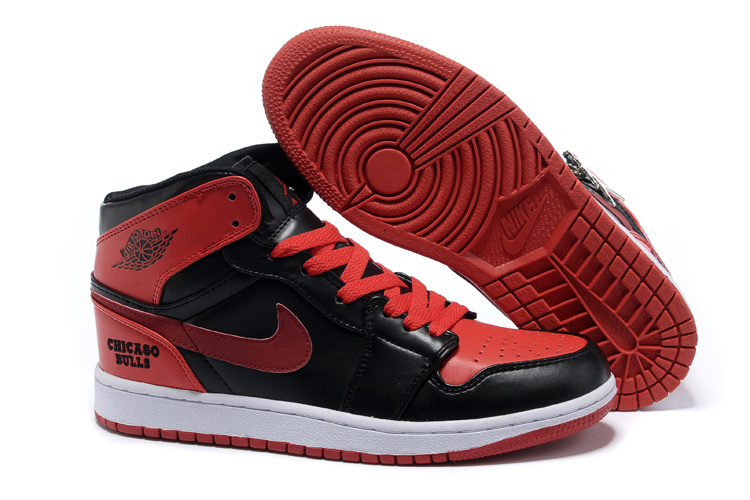 New Original Air Jordan 1 Black Red Shoes