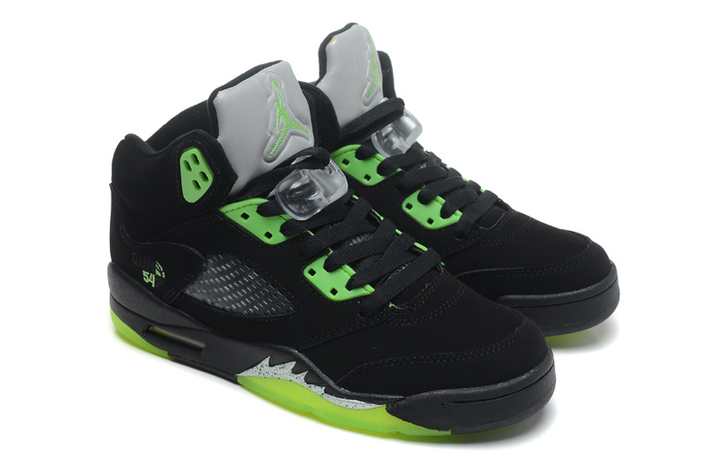 New Original Jordan 5 Retro Black Green