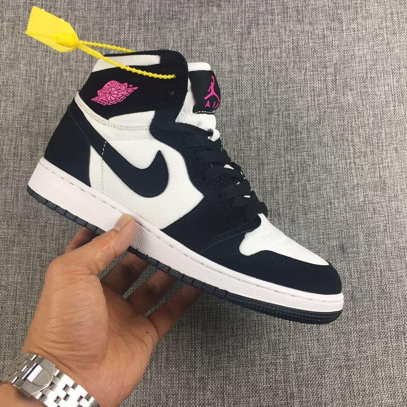 1202e37320d0 ... where to buy new women air jordan 1 retro panda black white red shoes  5f721 97886