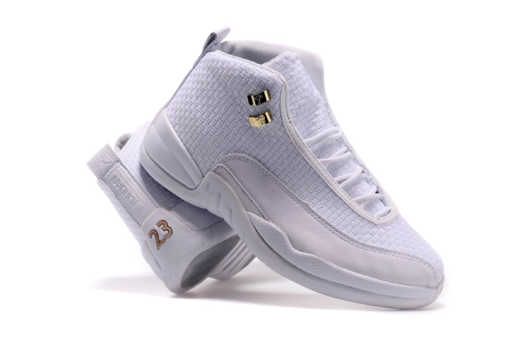 Newly Air Jordan 12 Future All White Basketball Shoes