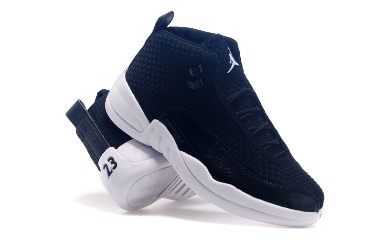 Newly Air Jordan 12 Future Black White Basketball Shoes