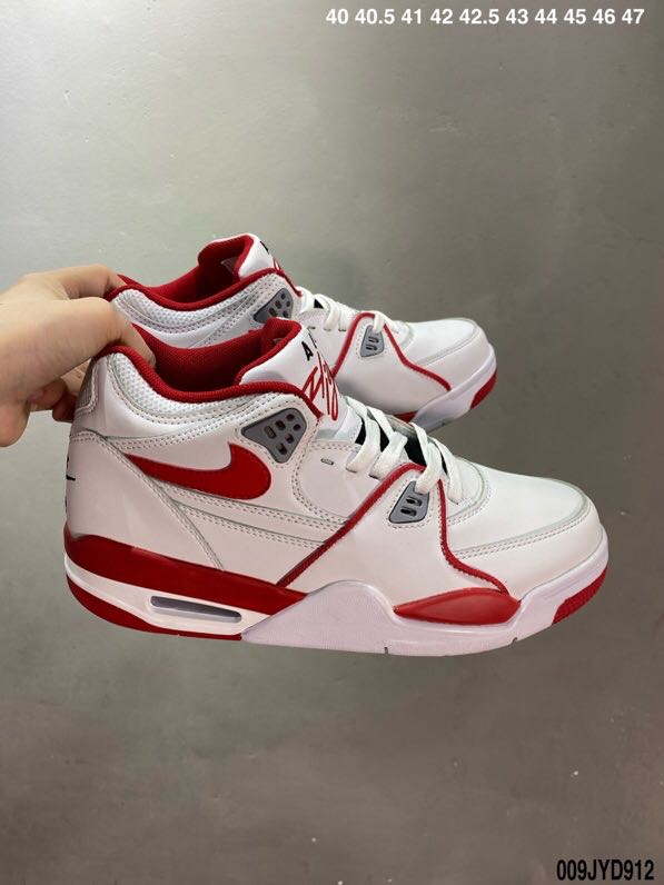 Air Flight 89 AJ4 White Red Shoes