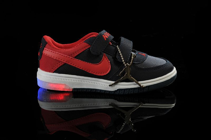 2013 Air Jordan Light Shoes Black Red For Kids