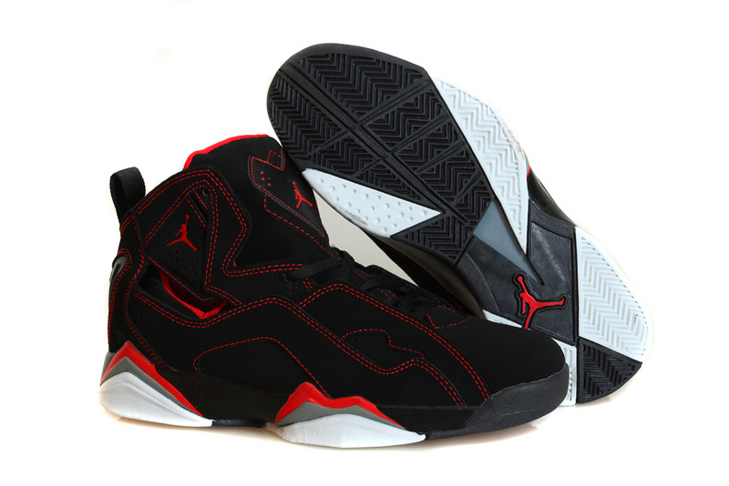 Nike Jordan True Flight Black Red Basketball Shoes