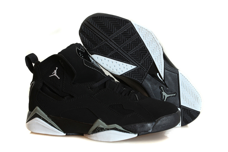 Nike Jordan True Flight Black White Basketball Shoes