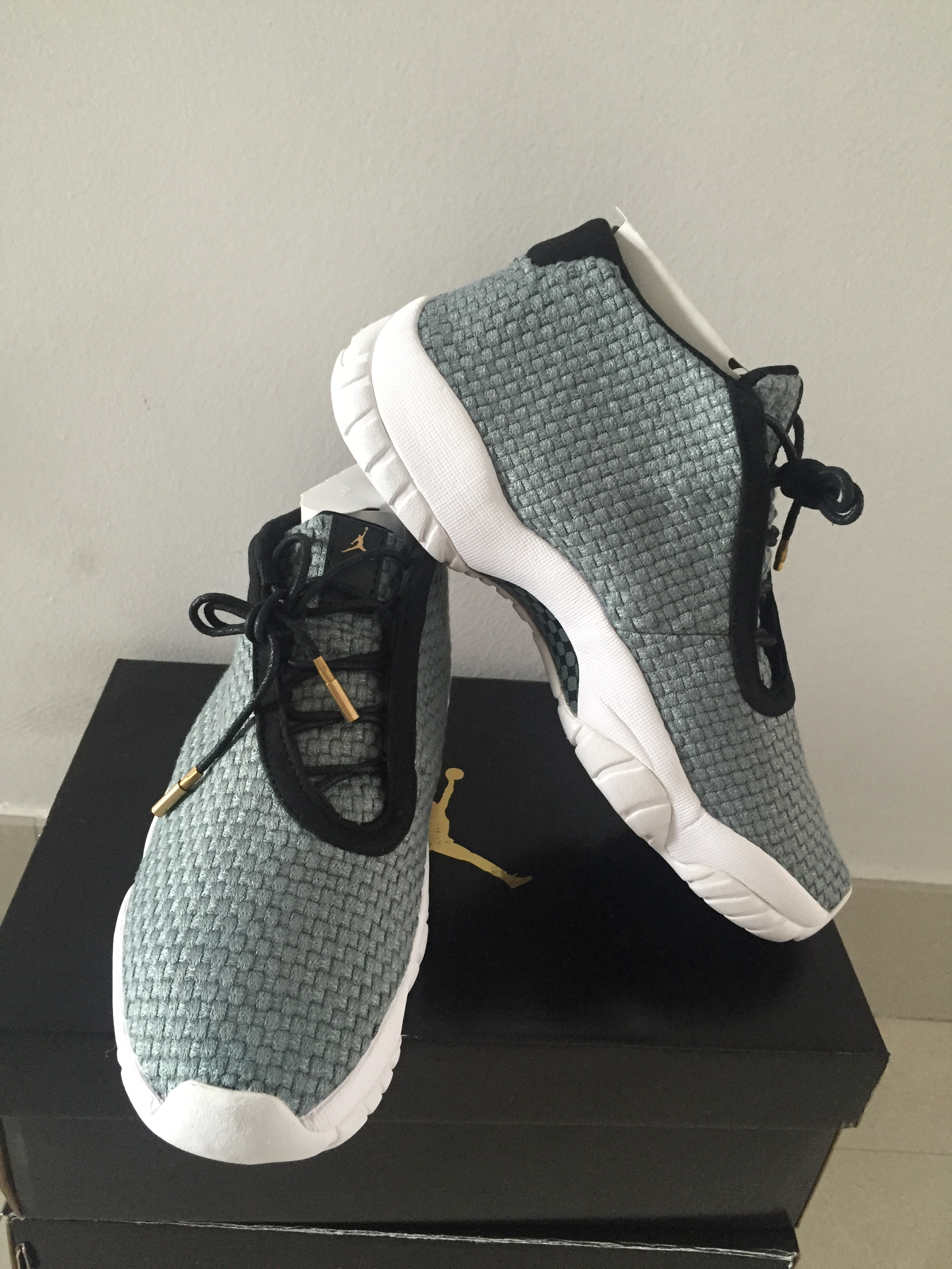 Original Air Jordan Future Grey White Shoes For Lovers