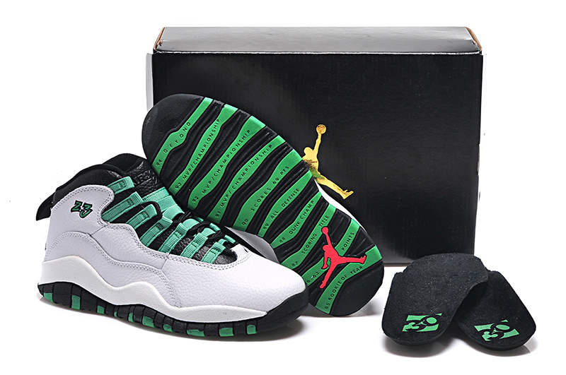 the best attitude d3e25 fd634 Original White Green Black Air Jordan 10 Retro Bulls Over ...