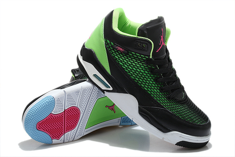 Special Air Jordan Flight Club 80S Black Green White Red Shoes