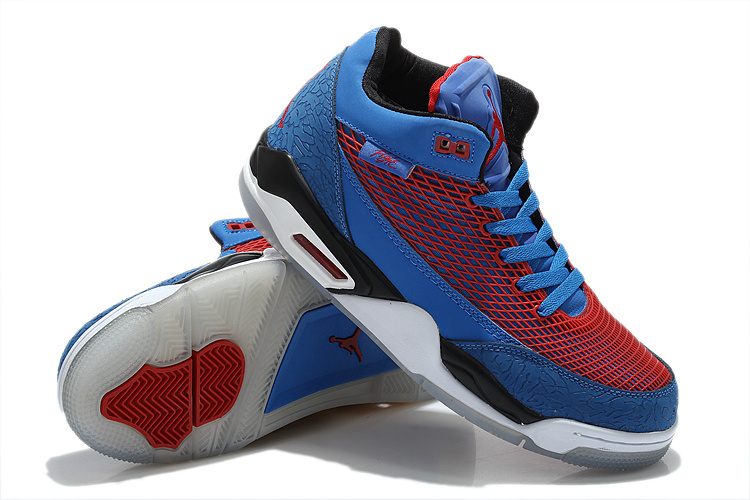 Special Air Jordan Flight Club 80S Blue Red White Shoes