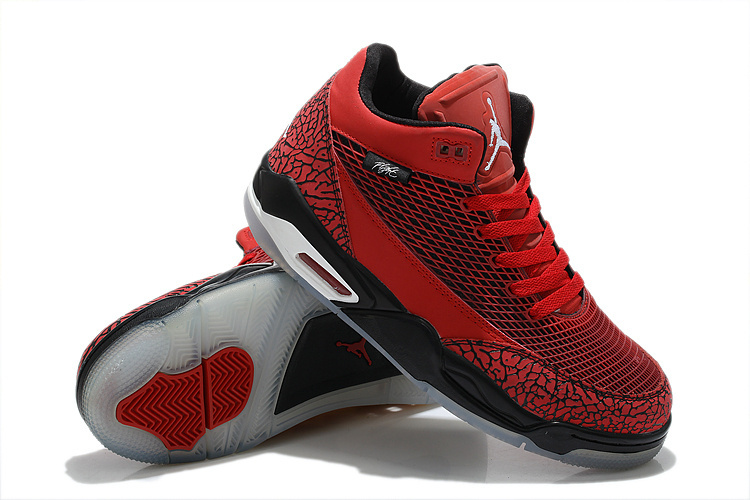Special Air Jordan Flight Club 80S Red Black Shoes