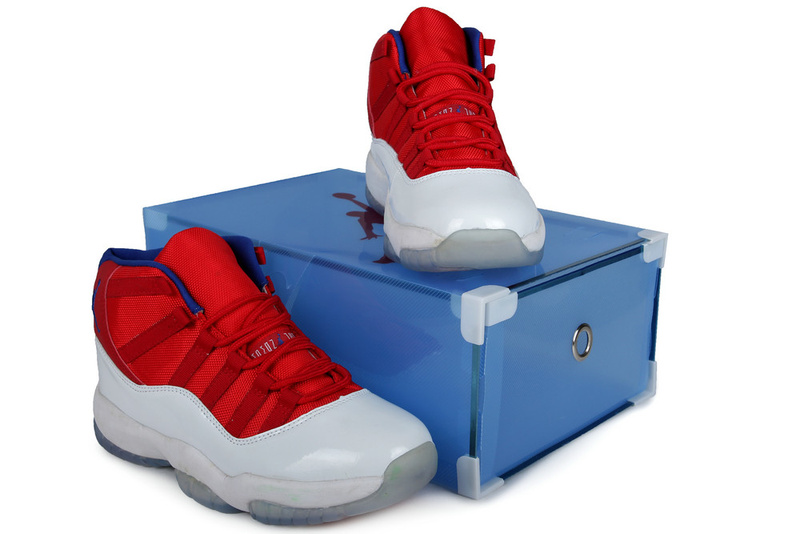 Summer Air Jordan 11 Red White Crystal Transparent Package Authentic ... 5e2561ff72a5