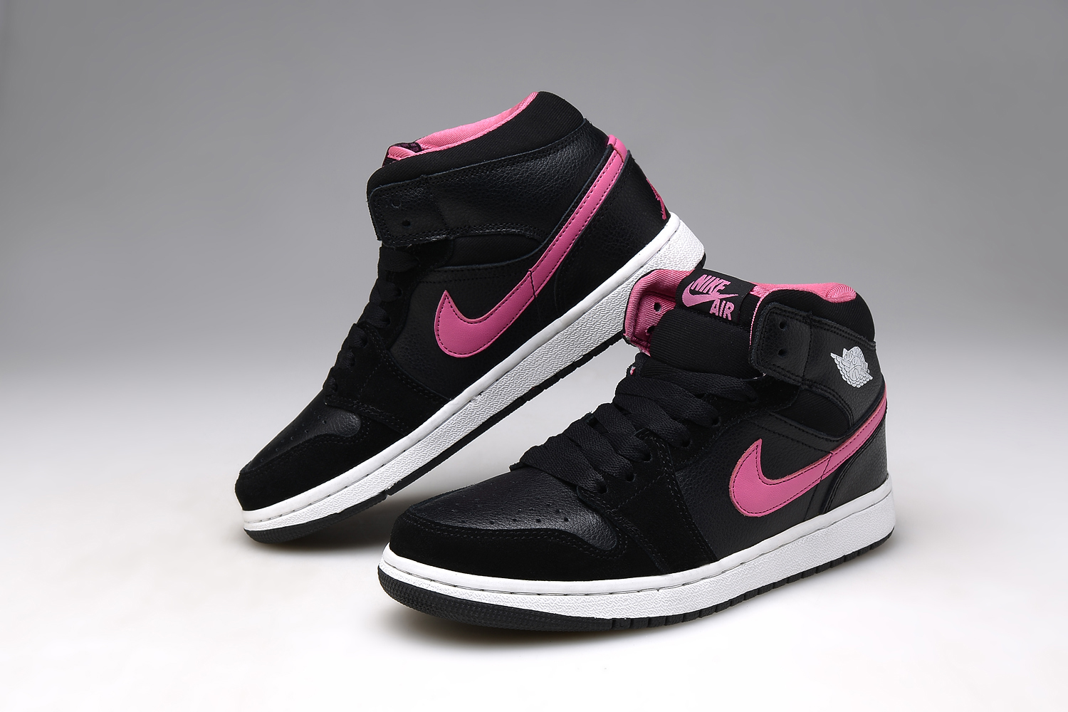 Women Air Jordan 1 Grind Black Pink Shoes