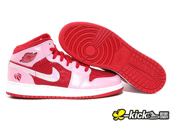 Women Air Jordan 1 Valentine Day Shoes For Girl