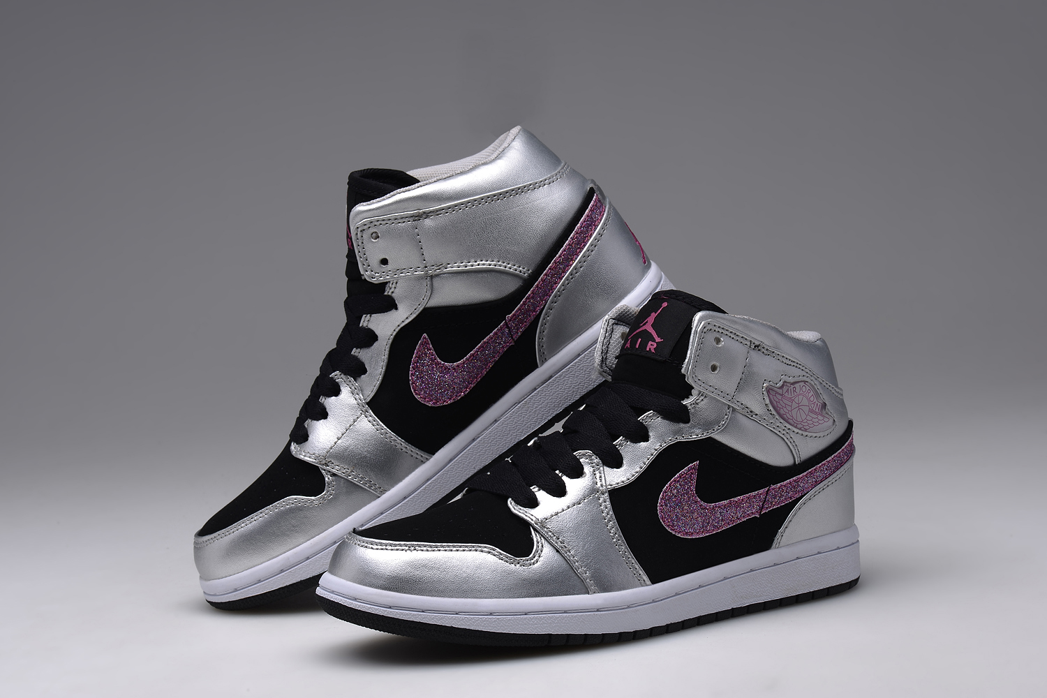 Women Air Jordan 1 White Gloden Shoes
