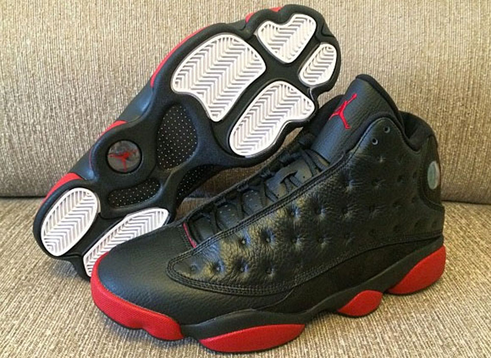 Women Air Jordan 13 Black Red Shoes