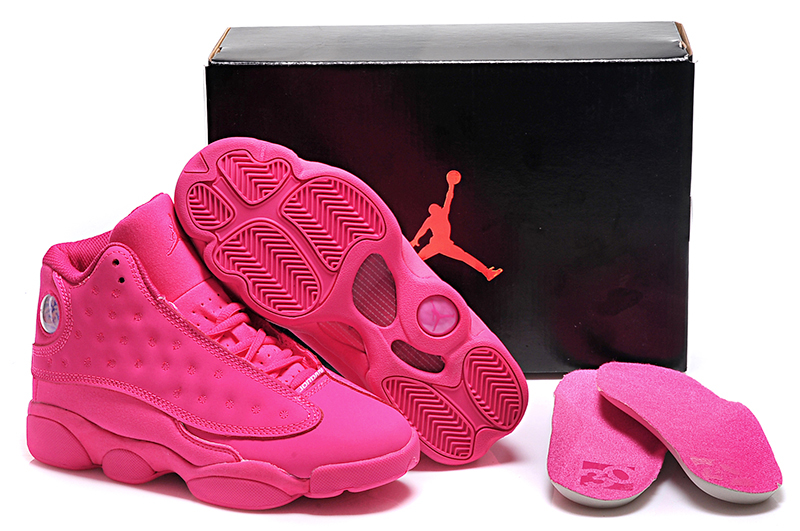 Women Air Jordan 13 GS Pink Basketball Shoes