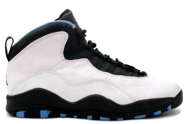 air jordan 10 charlotte hornets white black dark powder blue shoes