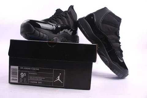 Jordan 11 Retro all black shoes