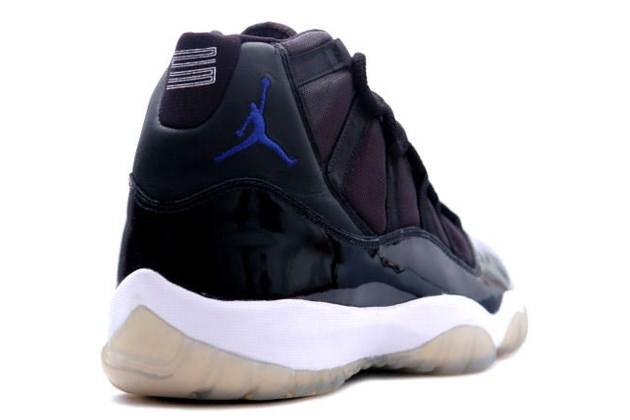 e0ba6c3d33c Cheap Real Jordan 11 Retro space jams black varsity royal white ...