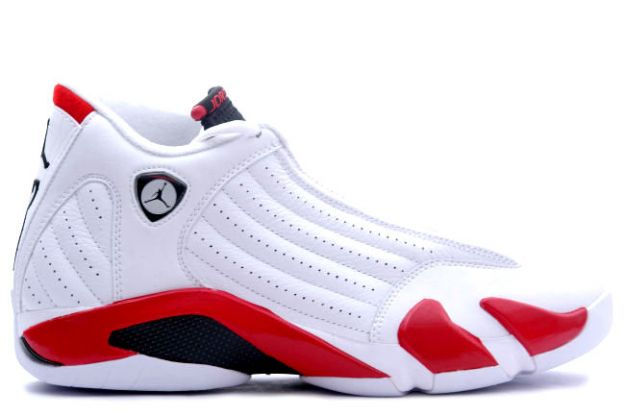 Jordan Retro 14 white black varsity red shoes