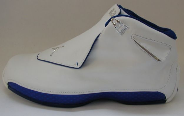 air jordan 18 white roya blue shoes