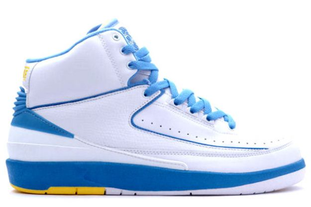 Jordan 2 Retro Carmello Anthony Melo White University Blue Varisty Maize Shoes