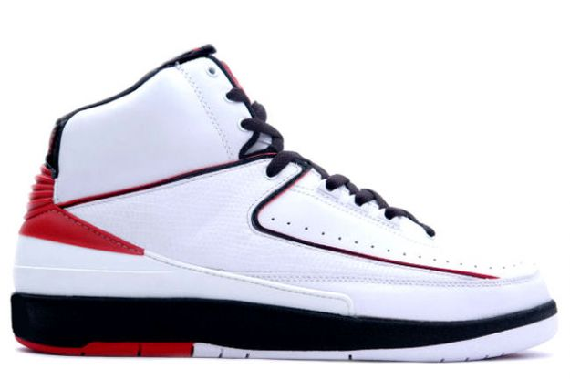 Jordan 2 Retro White Varsity Red Black Shoes