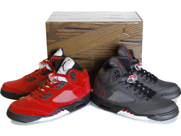 Air Jordan 5 Raging Bull Pack Varsity Red Black Package